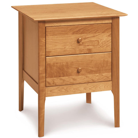 Sarah Two Drawer Tall Nightstand in Cherry - Urban Natural Home Furnishings.  Nightstands, Copeland