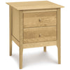 Sarah Two Drawer Tall Nightstand in Maple