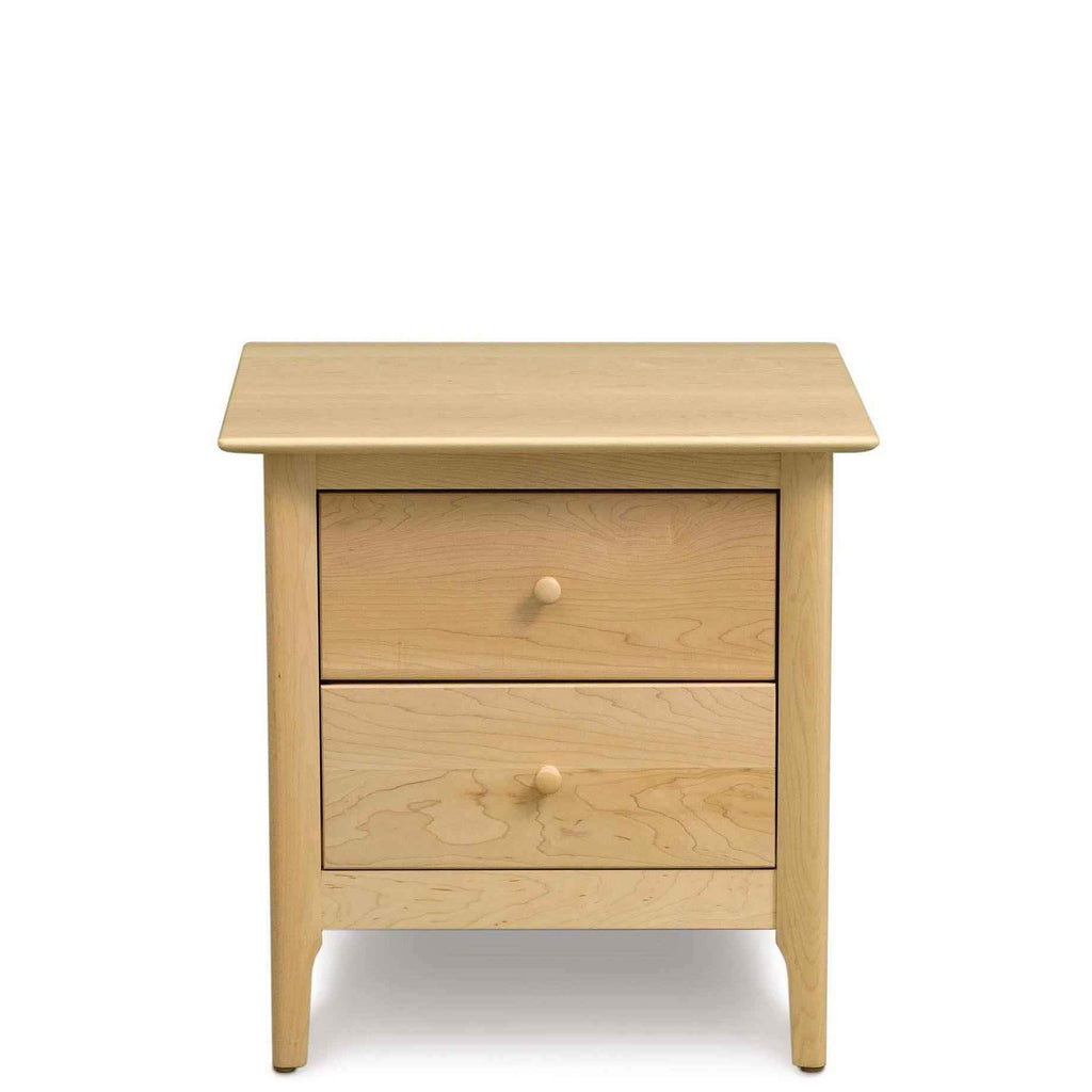 Sarah Two Drawer Nightstand in Maple - Urban Natural Home Furnishings.  Nightstands, Copeland