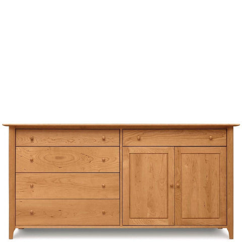 Sarah 4 drawers on right, 1 drawer over 2 doors on left buffet - Urban Natural Home Furnishings.  Buffet, Copeland