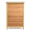 Sarah Five Drawer Dresser in Maple/Cherry