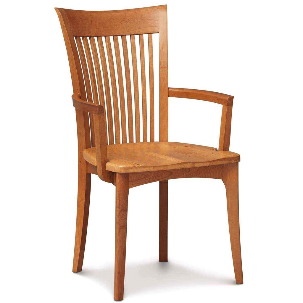 Sarah Armchair in Cherry with Wood Seat - Urban Natural Home Furnishings.  Dining Chair, Copeland