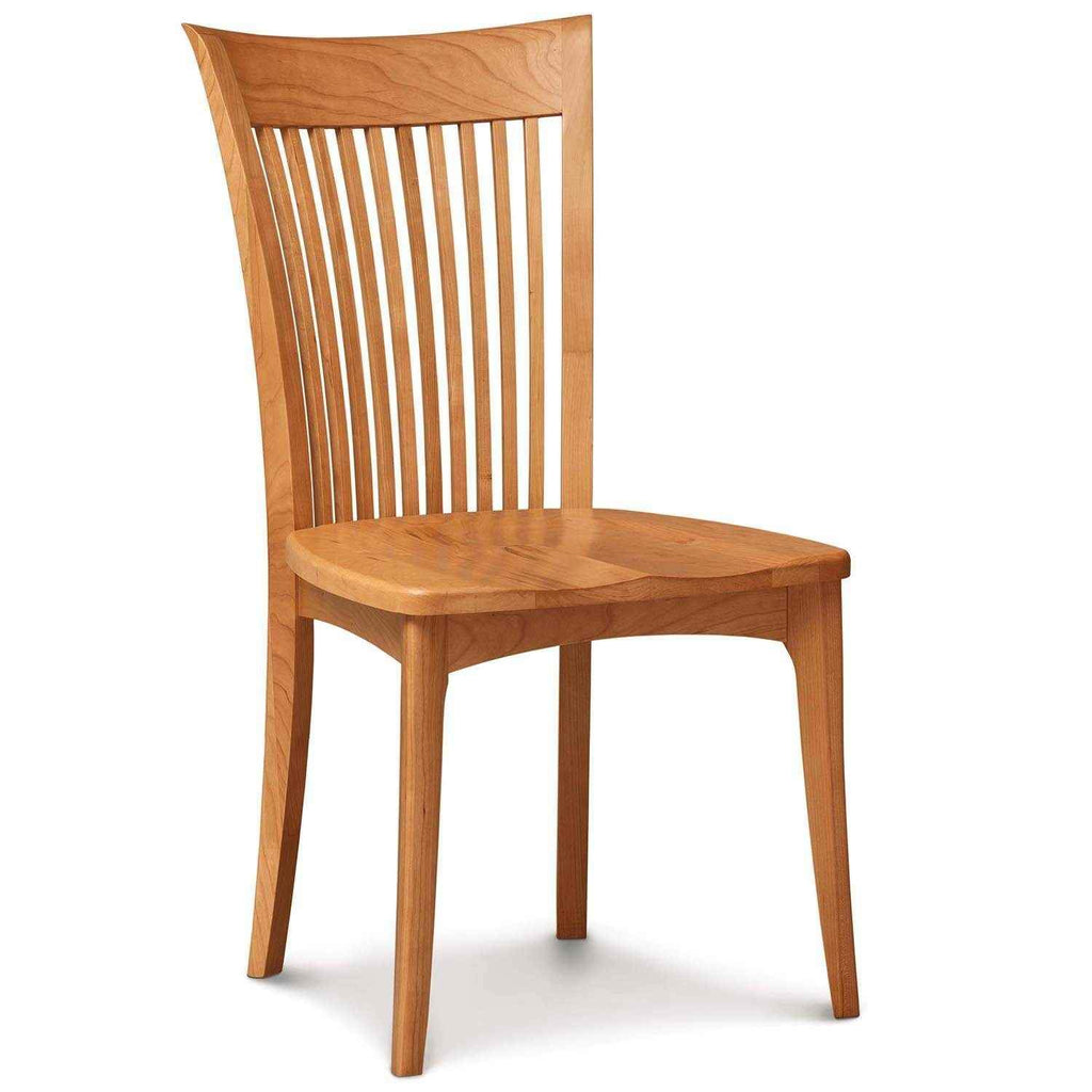 Sarah Sidechair in Cherry with Wood Seat - Urban Natural Home Furnishings.  Dining Chair, Copeland