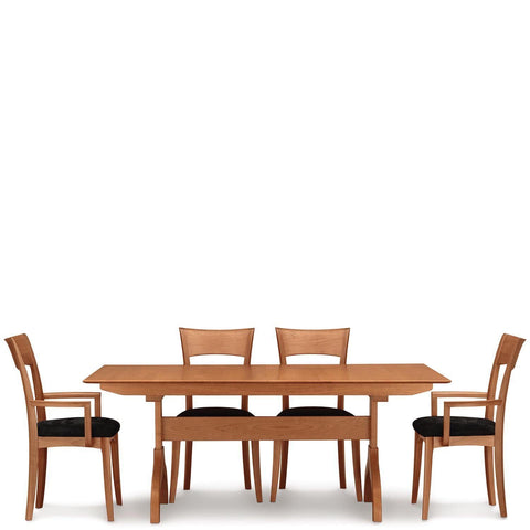Sarah Trestle Extension Tables with Easystow Extension and Leaf Storage - Urban Natural Home Furnishings.  , Urban Natural Home Furnishings