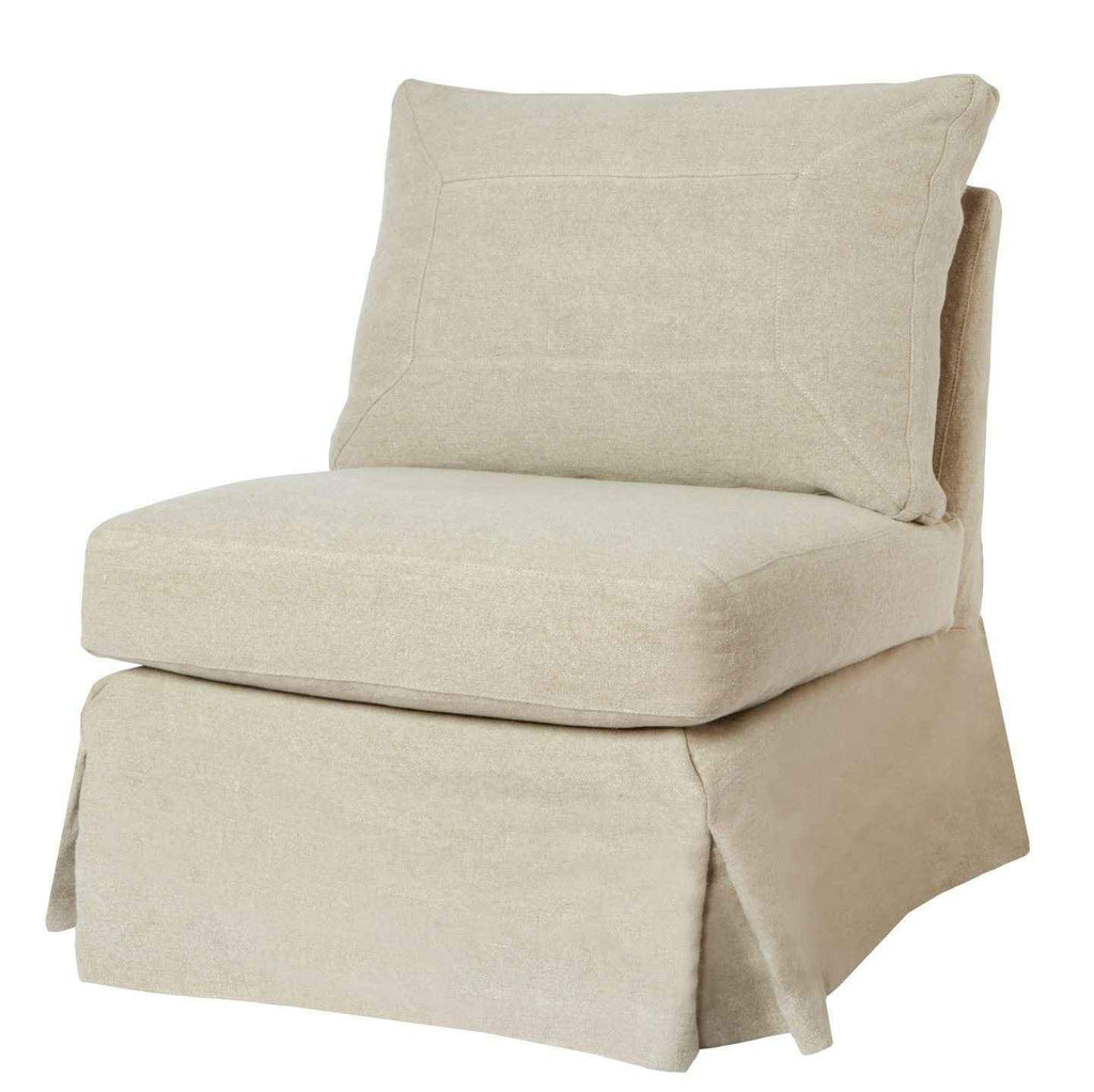 Seda Slipcovered Armless Chair - Urban Natural Home Furnishings.  Living Room Chair, Cisco Brothers
