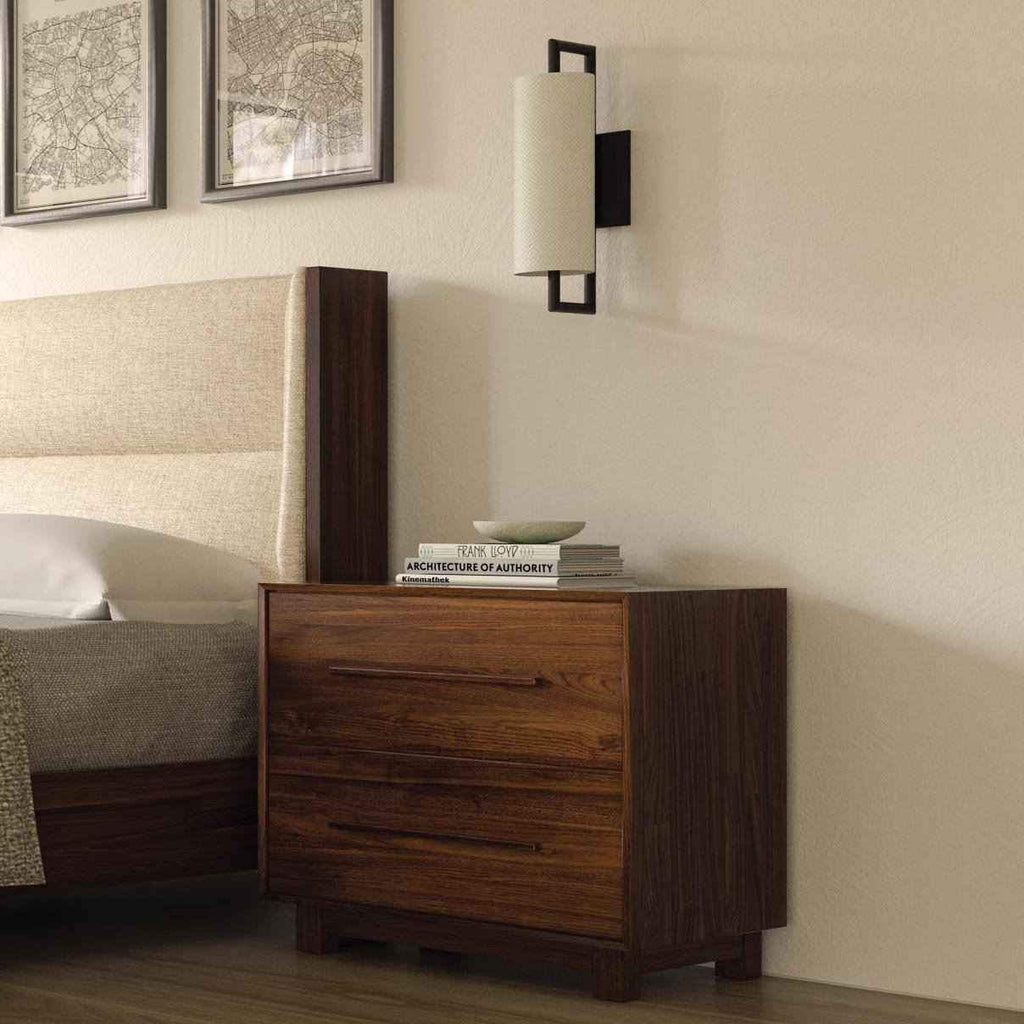 Sloane Two Drawer Nightstand in Natural Walnut - Urban Natural Home Furnishings.  Nightstands, Copeland