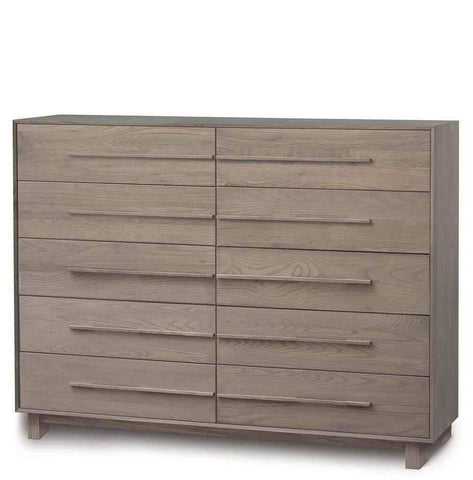 Sloane Ten Drawer Wide Dresser in Ash - Urban Natural Home Furnishings.  Dressers & Armoires, Copeland