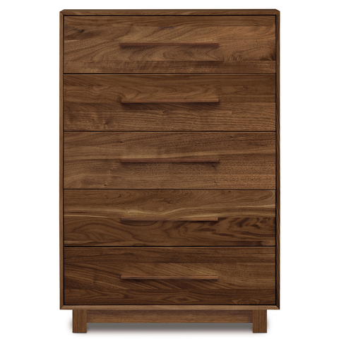 Sloane Five Drawer Wide Dresser in Walnut by Copeland