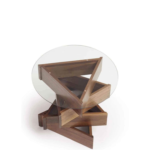Twist Round End Table Walnut - Urban Natural Home Furnishings.  Nightstands, Copeland
