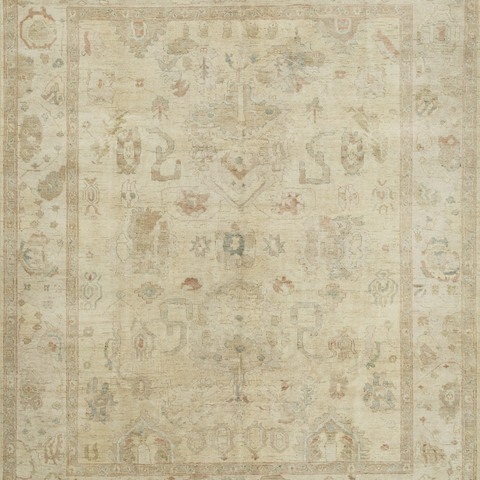 Vincent Hand Knotted Area Rug in Stone Sample