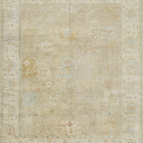 Vincent Hand Knotted Area Rug in Dune/Stone Sample