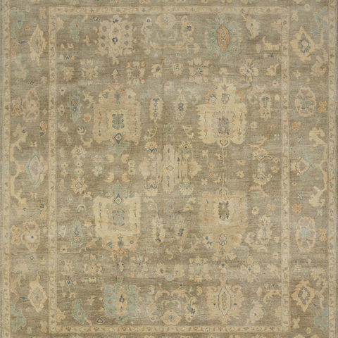 Vincent Hand Knotted Area Rug in Pebble Sample