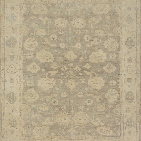 Vincent Hand Knotted Area Rug in Silver/Stone Sample