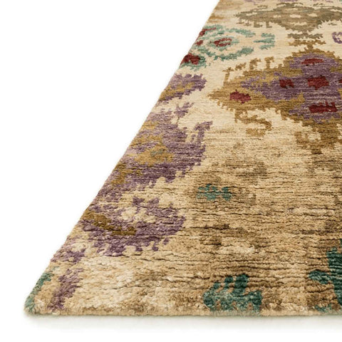 Xavier Hand Knotted Area Rug in Beige / Multi