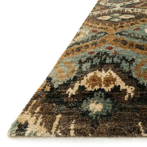 Xavier Hand Knotted Area Rug in Taupe / Aqua by Loloi