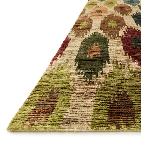 Xavier Hand Knotted Area Rug in Multi