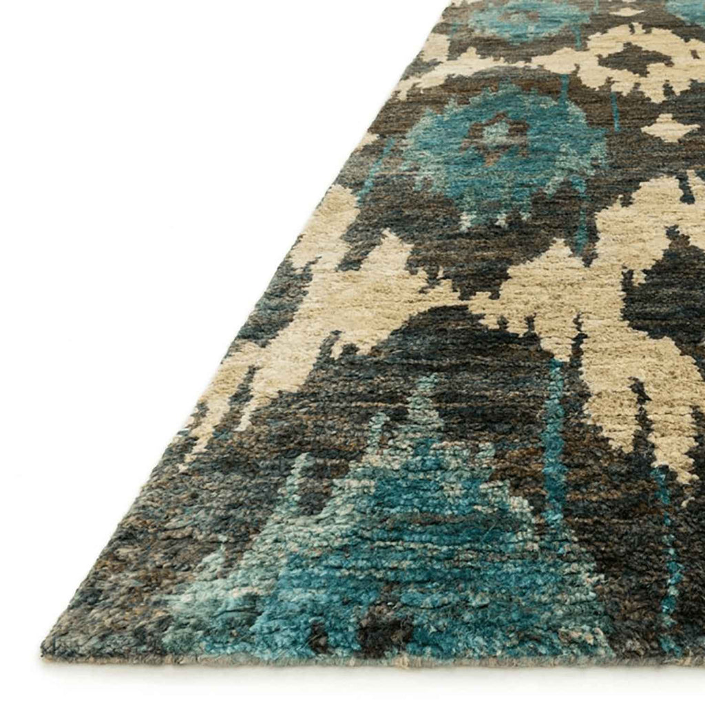 Xavier Hand Knotted Area Rug in Midnight