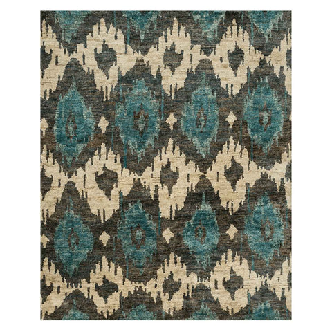 Xavier Hand Knotted Area Rug in Midnight by Loloi