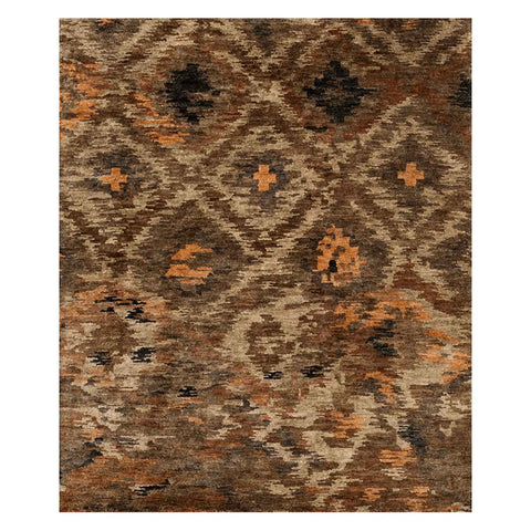 Xavier Hand Knotted Area Rug in Rustic Brown by Loloi