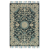 Zharah Hooked Area Rug in Teal / Grey by Loloi