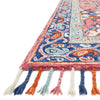 Zharah Hooked Area Rug in Rose / Denim by Loloi