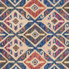 Zharah Hooked Area Rug in Denim / Multi