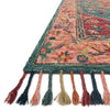 Zharah Hooked Area Rug in Teal / Berry by Loloi