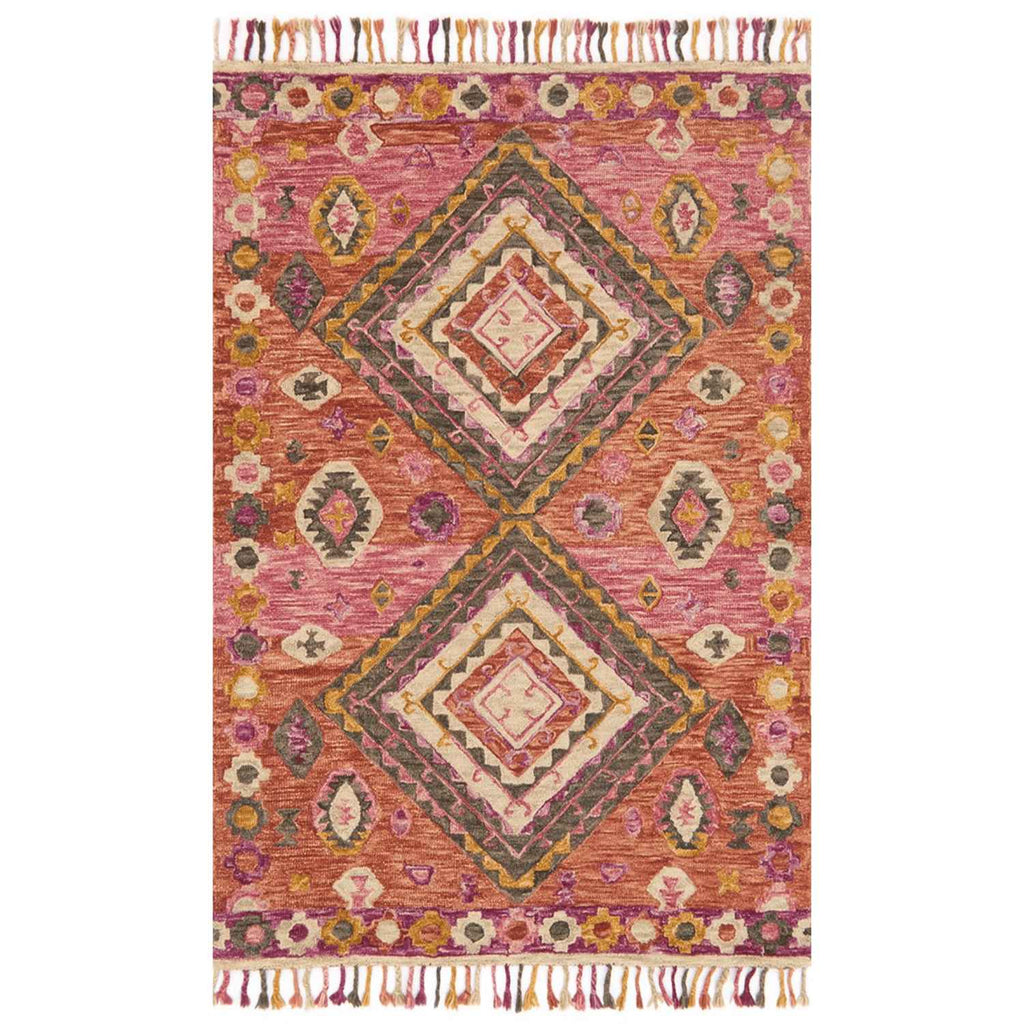 Zharah Hooked Area Rug in Fiesta by Loloi