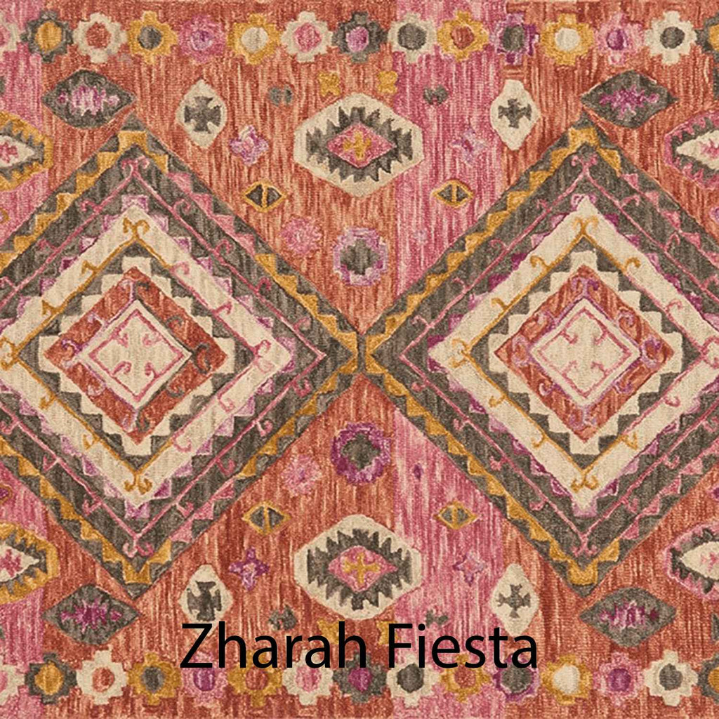 Zharah Hooked Area Rug in Fiesta Sample
