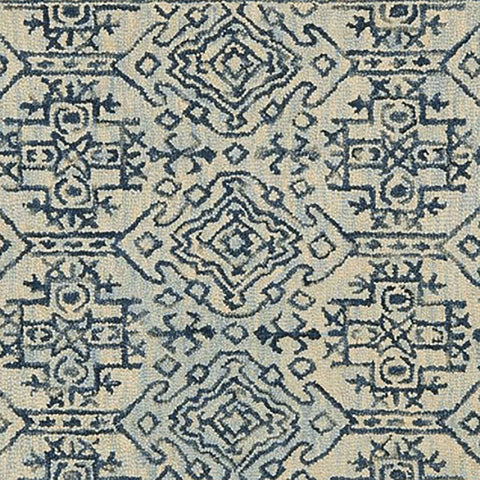 Zharah Hooked Area Rug in Mist / Blue by Loloi