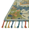 Zharah Hooked Area Rug in Blue / Multi