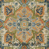 Zharah Hooked Area Rug in Blue / Multi Sample
