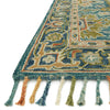 Zharah Hooked Area Rug in Blue / Navy