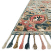 Zharah Hooked Area Rug in Light Blue / Multi by Loloi