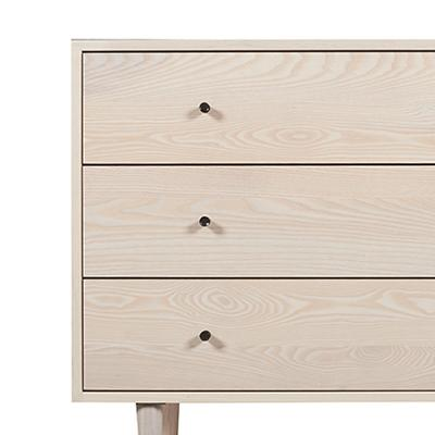 Asher Three Drawer Dresser in Sand Stained Ash