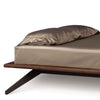 Astrid Bed without Headboard Panel in Walnut/Dark Chocolate Maple Base by Copeland