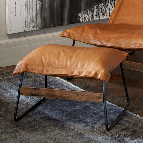 Drift Ottoman in Leather