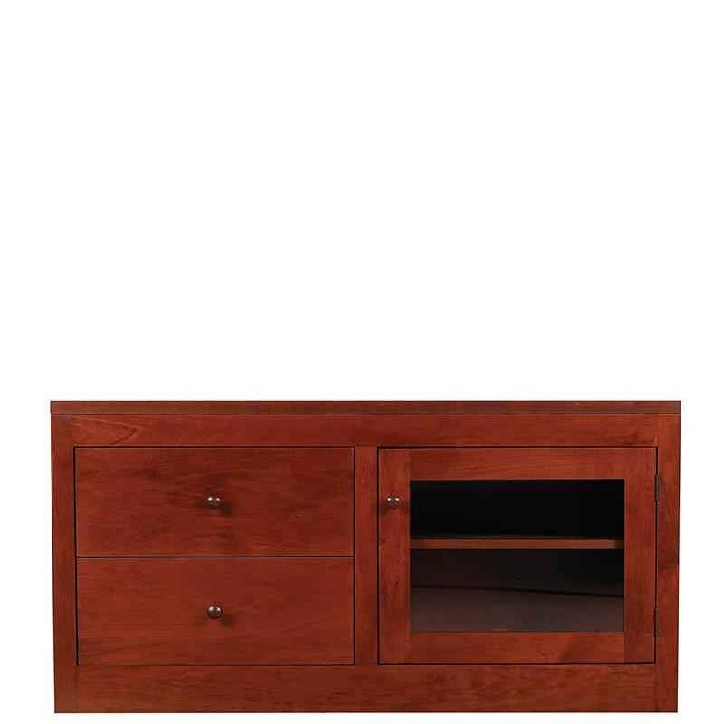 "Linden 48"" TV Stand (2 Drawers and 1 Door) in Wine Stained Cherry by Spectra Wood"