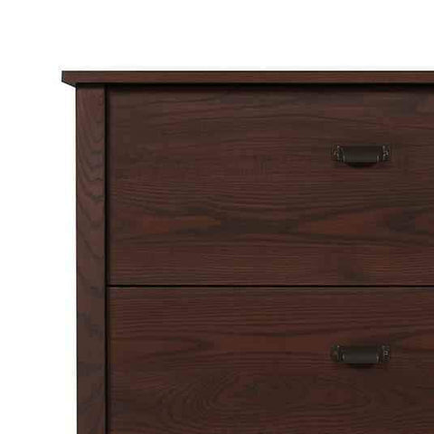 Preston 2 Drawer Lateral File Cabinet in Walnut Stained Ash