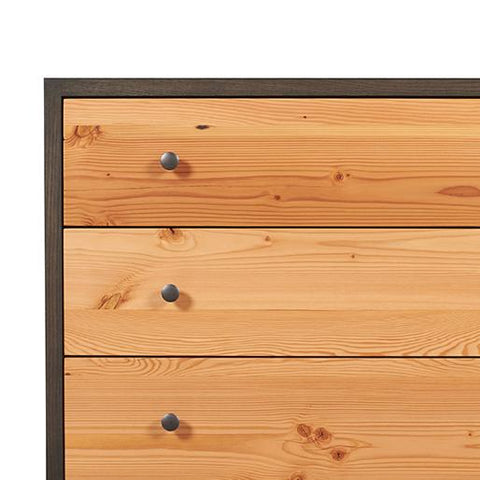 Somerset 3 Drawer Dresser in Charcoal Stained Ash