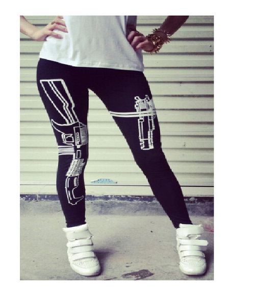 Printed Sporty Leggings - Ashlays - 3