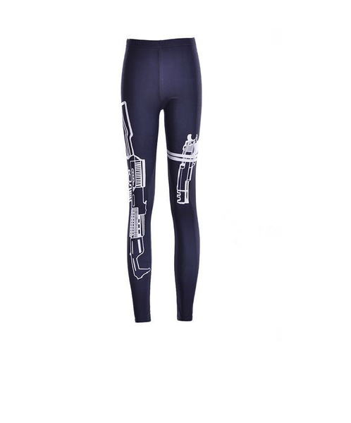 Printed Sporty Leggings - Ashlays - 1