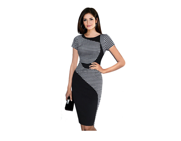 Short Sleeve Pencil Dress - Ashlays - 1