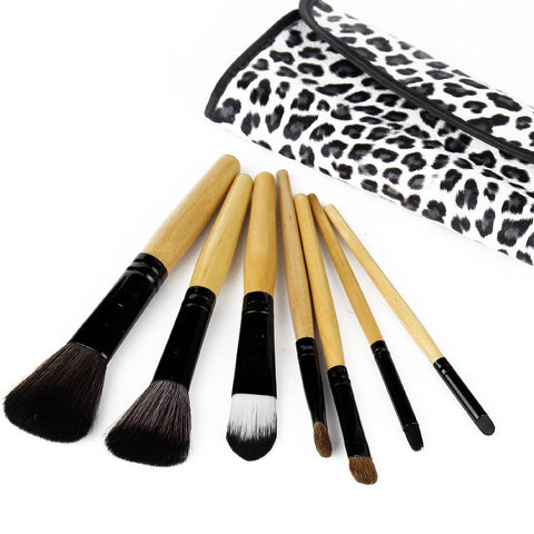 7Pcs/set Makeup Brush Set Leopard Decorative Pattern Case - Ashlays