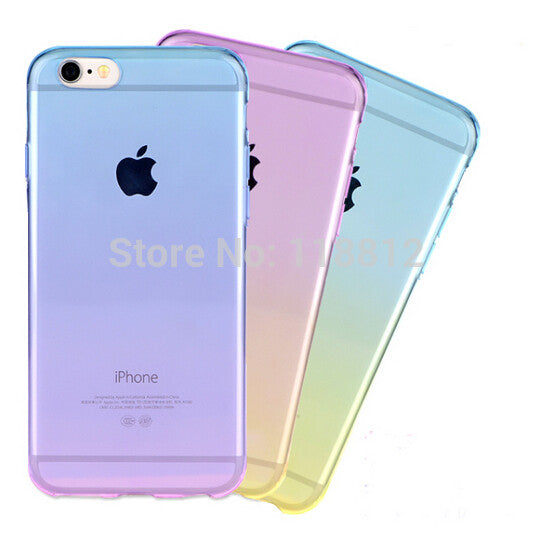 Transparent Skin Protective Phone Cases for iphone 5 Gradient Clear Back Cover For Apple Iphone 5 5S - Ashlays - 1