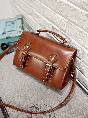 Retro Bag High Quality Designer Genuine Leather Handbag Messenger Bag Shoulder Bags Crossbody Bags For Women - Ashlays - 4