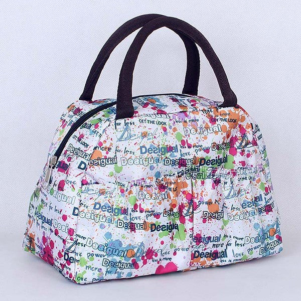 Pattern Lunch Bag Lunchbox Waterproof Neoprene - Ashlays - 6