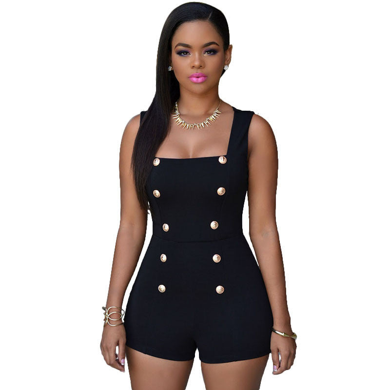 Women Sexy Black Rompers Short Jumpsuits White Bodysuits Monos Womens Overalls Bodycon Playsuits Ladies One Piece Romper - Ashlays - 2
