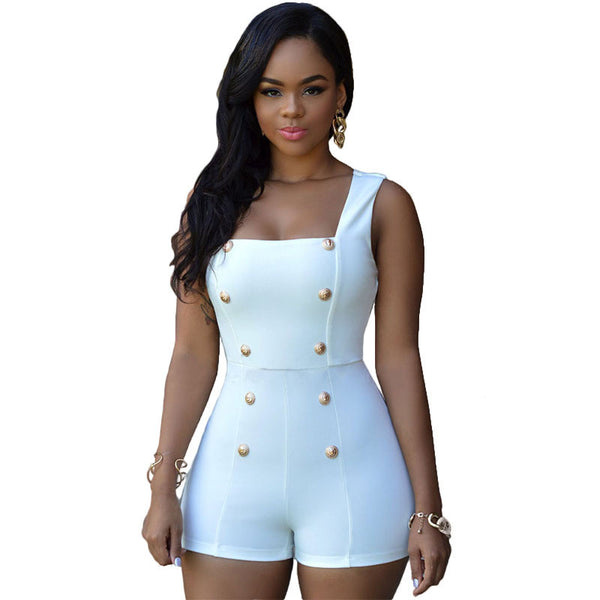 Women Sexy Black Rompers Short Jumpsuits White Bodysuits Monos Womens Overalls Bodycon Playsuits Ladies One Piece Romper - Ashlays - 3