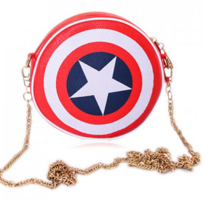 Super Hero and Chain Design Women's Crossbody Bag - Ashlays